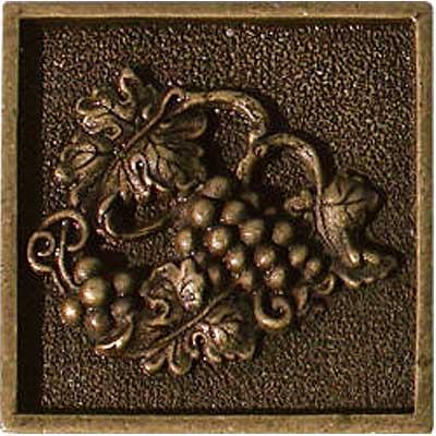 Florida Tile Metal Art 2 x 2 Decorative Inserts Brass Charm MT044A