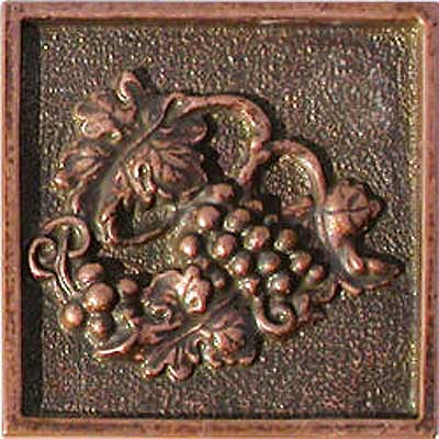 Florida Tile Metal Art 2 x 2 Decorative Inserts Copper Charm MT077A