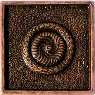 Florida Tile Metal Art 2 x 2 Decorative Inserts Copper Pendant MT077C