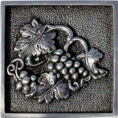 Florida Tile Metal Art 2 x 2 Decorative Inserts Pewter Charm MT011A
