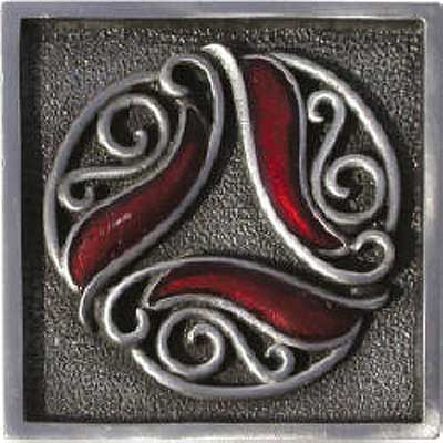 Florida Tile Metal Art 2 x 2 Decorative Inserts Pewter Filigree MT011G