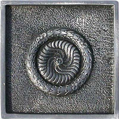 Florida Tile Metal Art 2 x 2 Decorative Inserts Pewter Pendant MT011C
