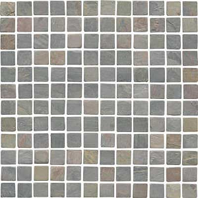 Florida Tile Pietra Art Tumbled Slate Mosaic 1 x 1 Mosaic African Gold IS153