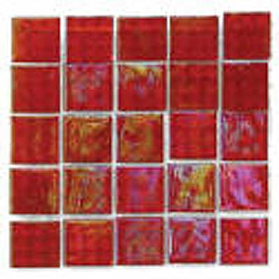 Florida Tile Platinum Glass Mosaic Cherry Mist T417
