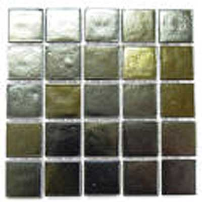 Florida Tile Platinum Glass Mosaic Gold Silver T416