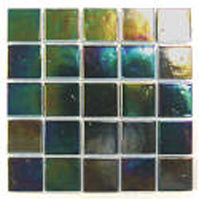 Florida Tile Platinum Glass Mosaic Green T412