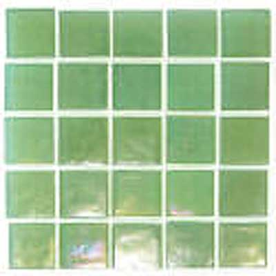 Florida Tile Platinum Glass Mosaic Pastel Green T410
