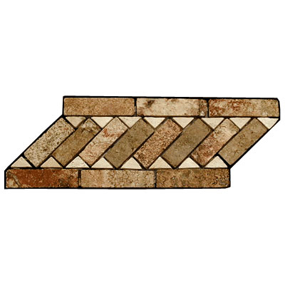 Stone Collection Mexican Travertine Decorative Borders Cheryl GSCCACCDHERYL