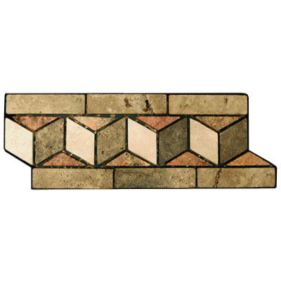 Stone Collection Mexican Travertine Decorative Borders Chevron GSCCACCHEVRON