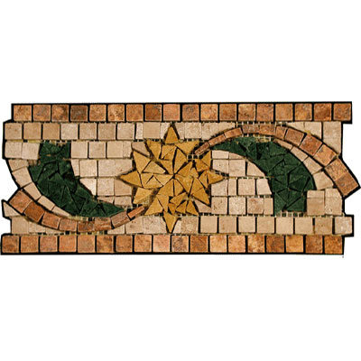 Stone Collection Mexican Travertine Decorative Borders Dawn GSCCACCDAWN