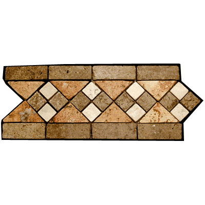 Stone Collection Mexican Travertine Decorative Borders Heather GSCCACCHEATHER