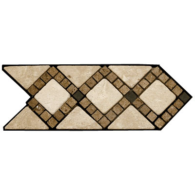 Stone Collection Mexican Travertine Decorative Borders Melissa GSCCACCMELISSA
