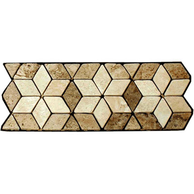 Stone Collection Mexican Travertine Decorative Borders Star Noce GSCCACCSTARNOCE