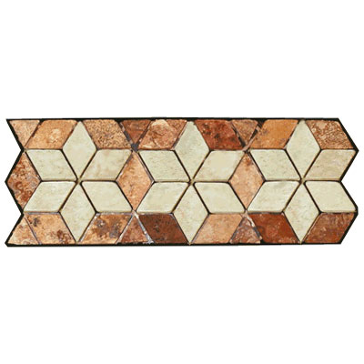 Stone Collection Mexican Travertine Decorative Borders Star Rust GSCCACCSTARRUST