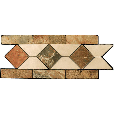 Stone Collection Mexican Travertine Decorative Borders Tiarra Rust Gsccacctiarra Style Tile