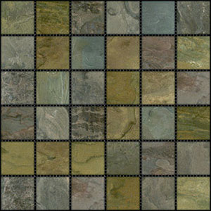 Stone Collection Indian Tumbled Slate 2 x 2 Mosaic Sandalwood GSCSAND22TMB