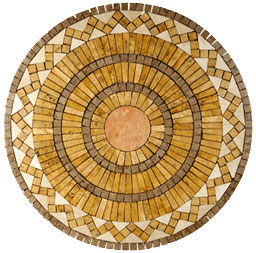 Stone Collection Mexican Travertine Medallions Capella GSCCMEDCAPELLA