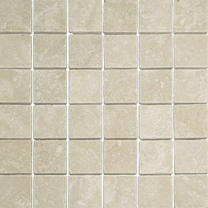 Stone Collection Mexican Travertine Tumbled Mosaic 2 x 2 Crema Durango GSCCREM22TMB