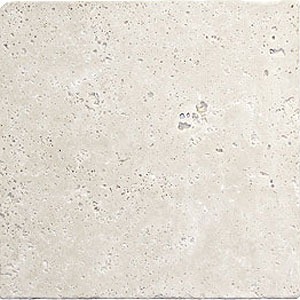 Stone Collection Turkish Travertine Tumbled 4 x 4 Ivory GSCIVOR44N