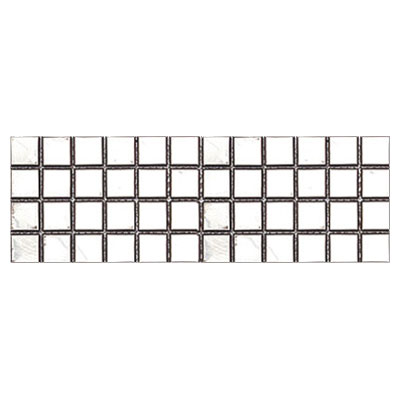 Interceramic Inox Mosaics 4 x 12 Square Shine Listel INMOSQSH412SS