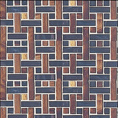 Interceramic Interglass - 12 x 12 Mosaics Marrone Weaves INGLMARR12WM