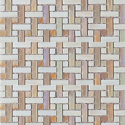 Interceramic Interglass - 12 x 12 Mosaics Ocre Weaves INGLOCRE12WM