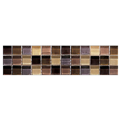 Interceramic Interglass - 3 x 12 Mosaic Brown Gloss Mosaic Listel INGLBROW312LM