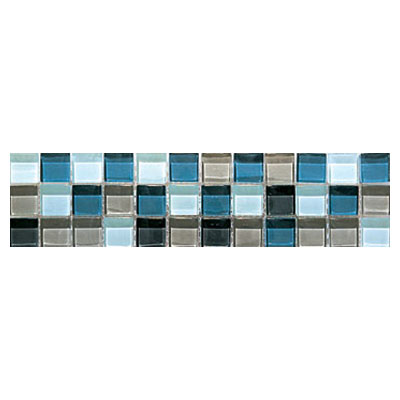 Interceramic Interglass - 3 x 12 Mosaic Gray Gloss Mosaic Listel INGLGRAY312LM