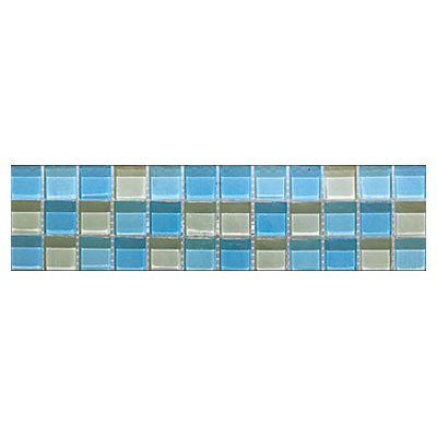 Interceramic Interglass - 3 x 12 Mosaic Mint Gloss Mosaic Listel INGLMINT312LM