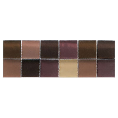 Interceramic Interglass - 4 x 12 Mosaics Matte Brown Listel Mosaic INGLBROW412LM