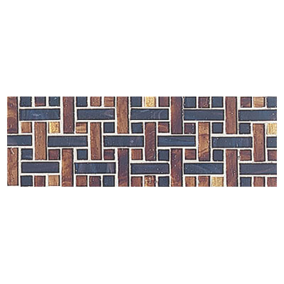 Interceramic Interglass - 4 x 12 Mosaics Weaves Marron Mosaic INGLMARR412WM
