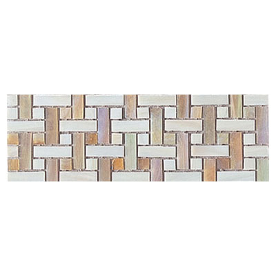 Interceramic Interglass - 4 x 12 Mosaics Weaves Ocre Mosaic INGLOCRE412WM
