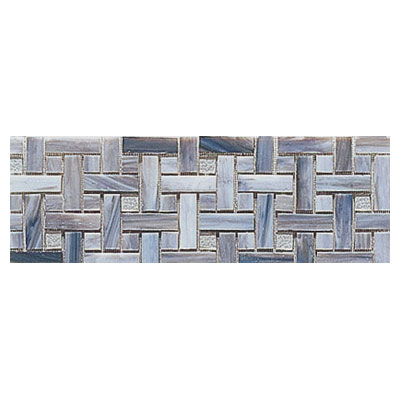 Interceramic Interglass - 4 x 12 Mosaics Weaves Smoke Mosaic INGLSMOK412WM