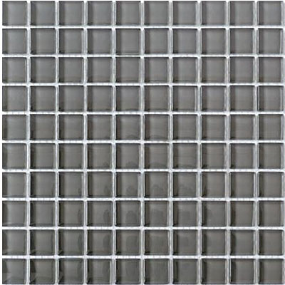 Interceramic Interglass Shimmer Mosaic 1 x 1 Pewter SHIMPEWT11MG