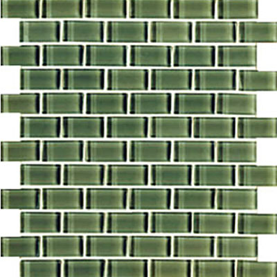Interceramic Interglass Shimmer Mosaic 1 x 2 Forrest SHIMFORE12MG