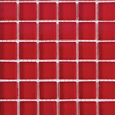 Interceramic Interglass Shimmer Mosaic 2 x 2 Red SHIMRED22MG