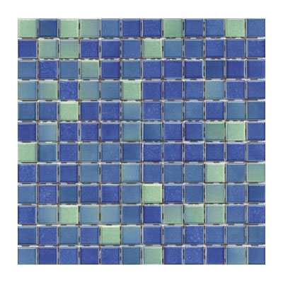 Interceramic Intertech Color Line Mix Mosaic 1 x 2 Dark Blue/Green ITCL008