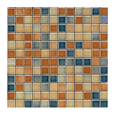 Interceramic Intertech - Color Line Mix Mosaic 1 x 1 Dark Tobacco/Dark Blue CLMXDTDB11MOS