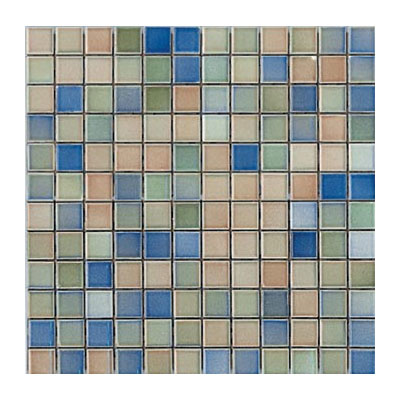 Interceramic Intertech Color Line Mix Mosaic 1 x 2 Tobacco/Blue ITCL002