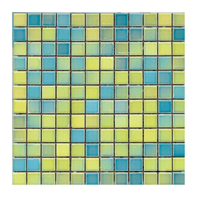 Interceramic Intertech Color Line Mix Mosaic 1 x 2 Yellow/Blue ITCL004