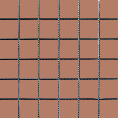 Interceramic Intertech Unglazed Porcelain Mosaic 2 x 2 Uni Tobacco POMOUNTO22U