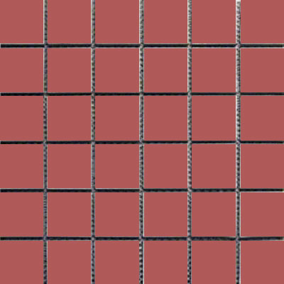 Interceramic Intertech Unglazed Porcelain Mosaic 2 x 2 Uni Ultra Red POMOUNUR22U