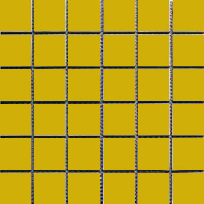 Interceramic Intertech Unglazed Porcelain Mosaic 2 x 2 Uni Yellow POMOUNYE22U