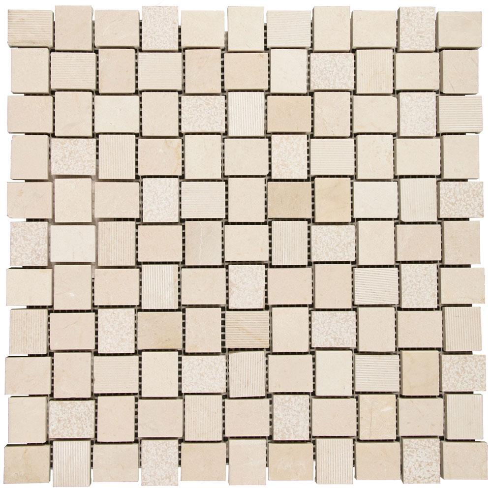 Interceramic marble mosaic 1 x 1 hilo tile stone colors interceramic marble mosaic 1 x 1 hilo crema marfil dailygadgetfo Gallery