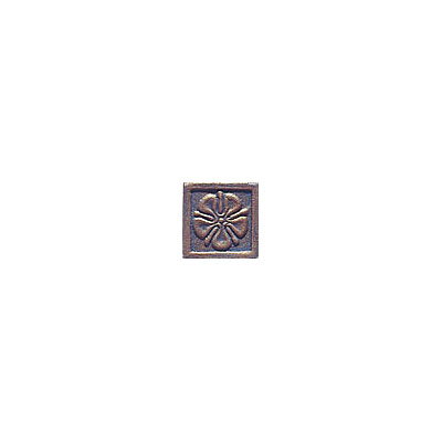 Interceramic Metal Impressions Roman Flowers 2 X 2 Deco B (Old) Roman Flowers Deco B MEIMBROZ2DBRF