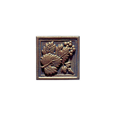 Interceramic Metal Impressions GrapeVine 4 1/4 X 4 1/4 Deco B (Old) Grapevine Deco B MEIMBROZ4DBG