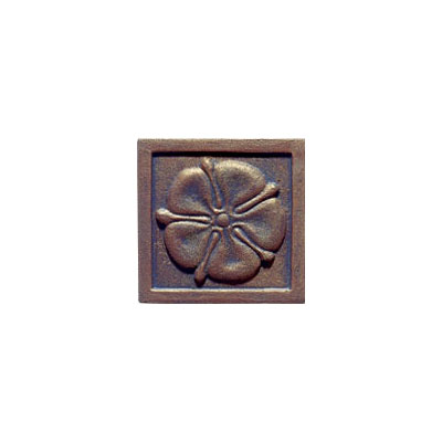 Interceramic Metal Impressions Roman Flowers 4 1/4 X 4 1/4 Deco B (Old) Roman Flowers Deco B MEIMBROZ4DBRF
