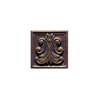 Interceramic Metal Impressions - Classic 4 x 4 Deco (Dropped) Deco A Bronze MEIMBROZ4DABC