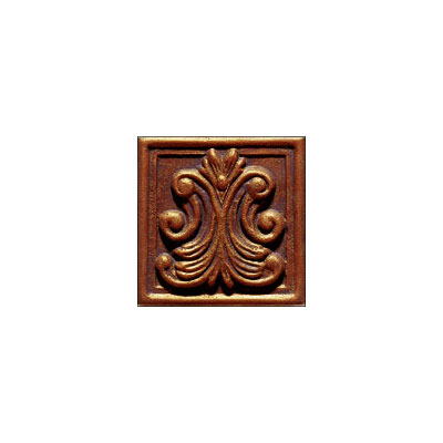Interceramic Metal Impressions - Classic 4 x 4 Deco (Dropped) Deco A Copper MEIMCOPP4DABC