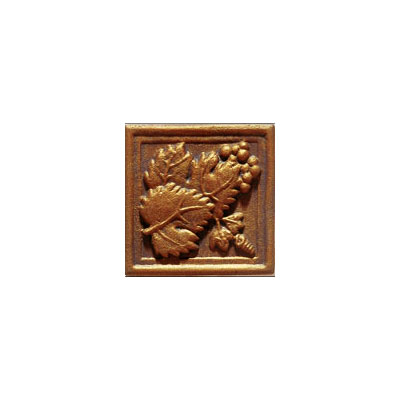Interceramic Metal Impressions - Grapevine 2 X 2 Deco (Dropped) Deco A Copper MEIMCOPP2DAG